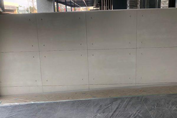 標準的樂土後製清水模(分線後製)/電視櫃體及柱面